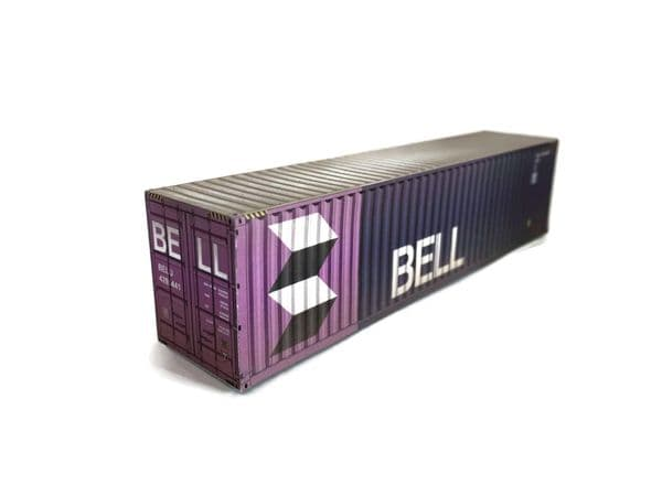 CT003-HO Bell 40ft Weathered Container Card Kit (Pack of 2) - HO/1:87